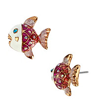 Betsey Johnson® Fish Stud Earrings