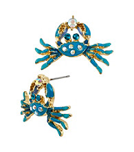 Betsey Johnson® Crab Stud Earrings