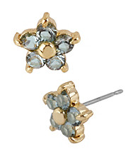 Betsey Johnson® Small Crystal Flower Stud Earrings