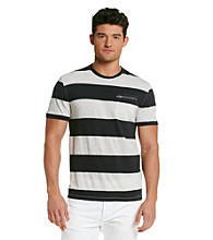 Calvin Klein Jeans® Men's Blue Short Sleeve Wide Striped Crewneck Tee
