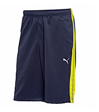 PUMA® Men's New Navy/Blaze Yellow Form Striped Short