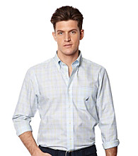Nautica® Men's Crystal Bay Blue Long Sleeve Plaid Shirt