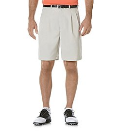 PGA TOUR® Men's Silver Mink Double Pleated Tech Golf Short