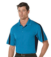PGA TOUR® Men's Blue Jewel 2-Tone Blocked Polo