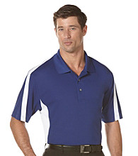PGA TOUR® Men's Sodalite Blue 2-Tone Blocked Polo