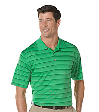 PGA TOUR® Men's Bright Green Short Sleeve Solarized Striped Polo