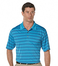 PGA TOUR® Men's Blue Jewel Short Sleeve Solarized Striped Polo