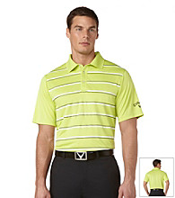 Callaway® Men's Wild Lime Short Sleeve Striped Polo with Vent