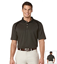 Callaway® Men's Anthracite Short Sleeve Mini Jacquard Polo