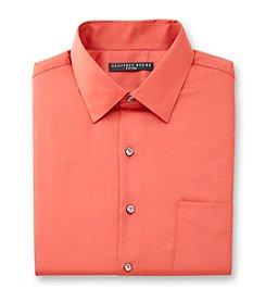 Geoffrey Beene® Men's Coral Long Sleeve Sateen Dress Shirt