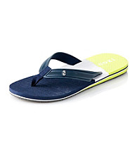 Izod® Men's Navy/Acid Color Block Flip Flop