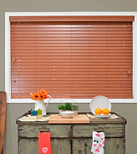 Blaze Faux Wood Blind by Chicology®