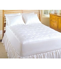 Serta® 233-Thread Count Dobby Stripe Warming Electric Mattress Pad