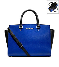 MICHAEL Michael Kors® Large Selma Leather Top Zip Satchel