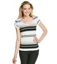 Calvin Klein Performance V-Neck Stripe Tee