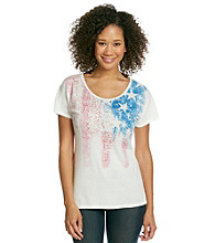 Nine West Vintage America Collection Azalea Americana Tee