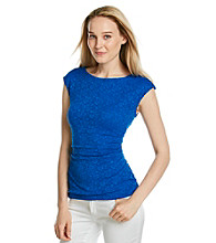 Vince Camuto® Side Ruched Lace Top