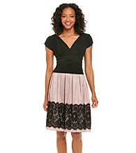S.L. Fashions Petites' Lace Hem Party Dress