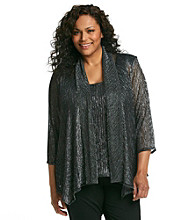 R&M Richards® Sparkle Knit Twinset Top