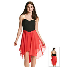 Bee Darlin' Juniors' Spaghetti Strap High-Low Party Dress