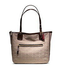COACH POPPY SIGNATURE C MINI OXFORD SMALL TOTE