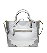 COACH POPPY COLORBLOCK LEATHER SMALL BLAIRE TOTE