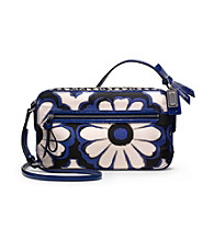 COACH POPPY FLORAL SCARF PRINT FLIGHT BAG