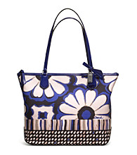 COACH POPPY SMALL TOTE IN FLORAL SCARF PRINT