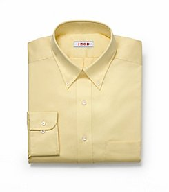 Izod® Men's Big & Tall Yellow Long Sleeve Twill Dress Shirt