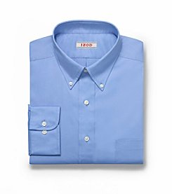 Izod® Men's Big & Tall Cornflower Blue Long Sleeve Twill Dress Shirt