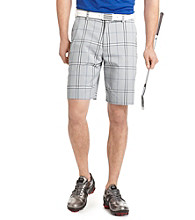 Izod® Men's High Rise Flat Front Plaid Short