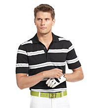 Izod® Men's Caviar Black Auto Striped Golf Polo