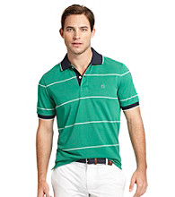 Izod® Men's Short Sleeve Striped Pique Polo