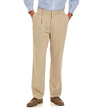 Savane® Men's Pleated Soft Touch Microfiber Casual Pant
