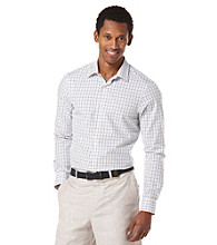 Perry Ellis® Men's Bright White Long Sleeve Slim Button Down Shirt