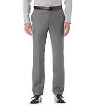 Perry Ellis® Men's Iron Ore Heather Flat Front Pant