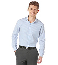 Perry Ellis® Men's Long Sleeve Stripe Button Down Shirt