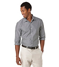 Perry Ellis® Men's Black Long Sleeve Stripe Button Down Shirt