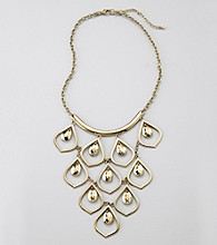 Relativity® Goldtone Teardrop Frontal Necklace