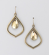 Relativity® Goldtone Drop Earrings
