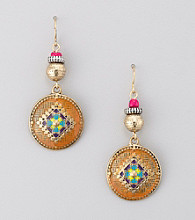 Relativity® Multi and Goldtone Drop Earrings
