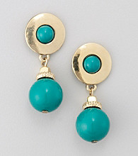 Studio Works® Green Drop Earrings