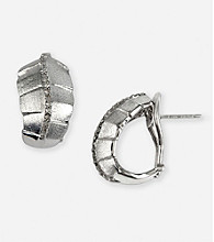 Effy® .20 ct. t.w. Diamond Omega-Back Hoop Earrings