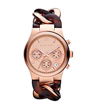 Michael Kors® Rose Goldtone and Tortoise Runway Twist Watch