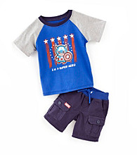 Nannette® Baby Boys' Navy 2-pc. Captain America Tee and Shorts Set