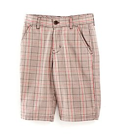 Calvin Klein Boys' 8-20 Khaki Plaid Shorts
