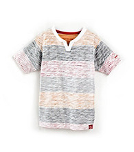 Calvin Klein Boys' 8-20 Red Striped Tee
