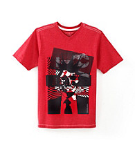 Calvin Klein Boys' 8-20 Red Short Sleeve Punk Tee