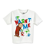 Curious George Boys' 2T-4T White Short Sleeve It Wasn't Me Tee