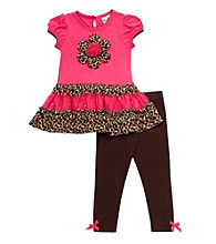 Rare Editions® Baby Girls' Fuchsia Cheetah Tutu Leggings Set